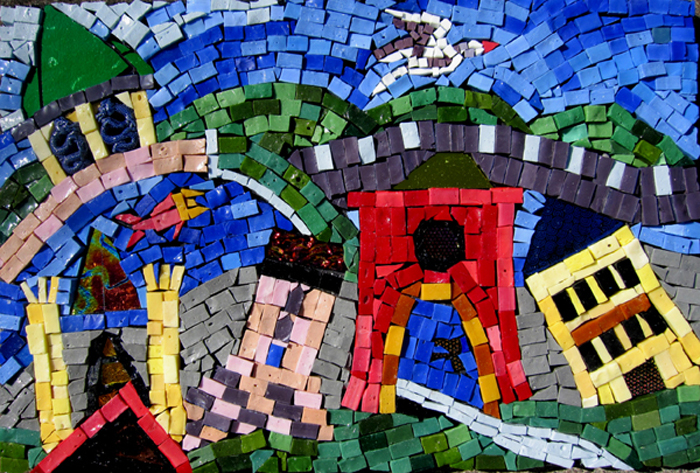 mosaic of fanciful city