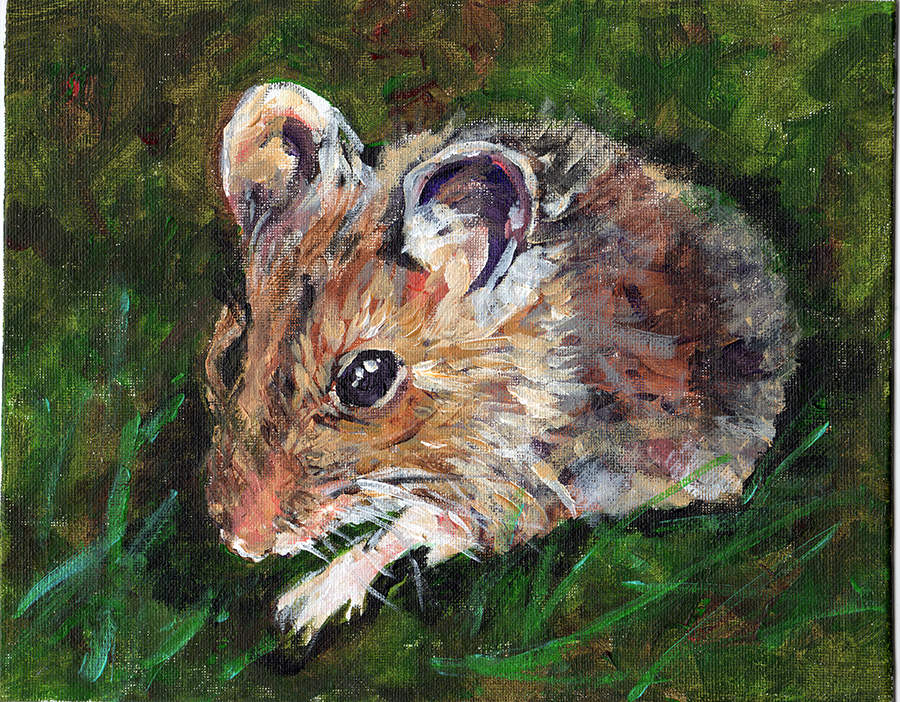 painting of mouse